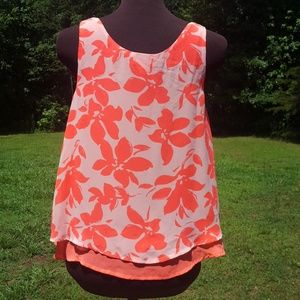 Cato Girls Coral Layered Tank Top XL (18)